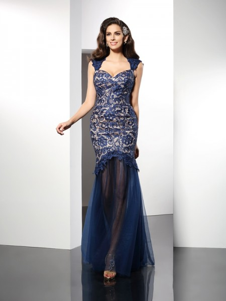 Trumpet/Mermaid Sweetheart Lace Long Net Dress